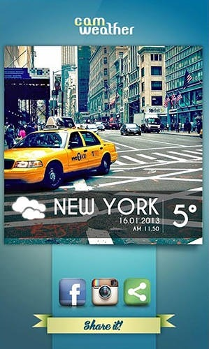 CamWeather Android Application Image 1