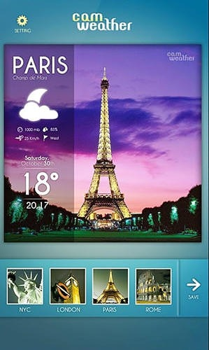 CamWeather Android Application Image 2