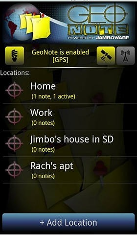 Geo Note Android Application Image 2