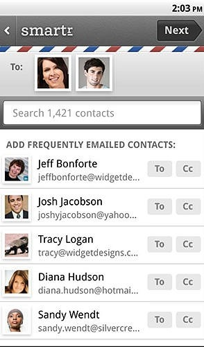 Smartr Contacts Android Application Image 1