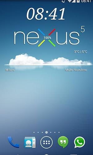 Nexus 5 Zooper Widget Android Application Image 1