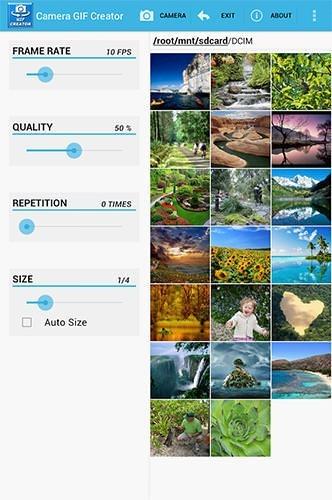 Camera Gif Creator Android Application Image 1