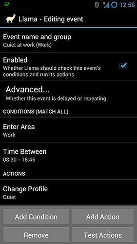 Llama: Location Profiles Android Application Image 2