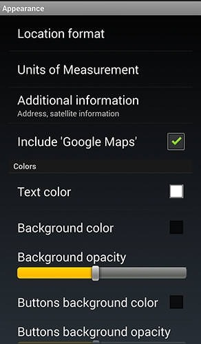 GPS Widget Android Application Image 2