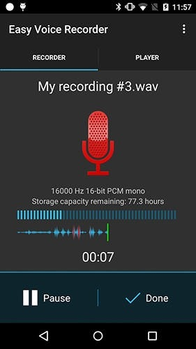 Easy Voice Recorder Pro Android Application Image 1