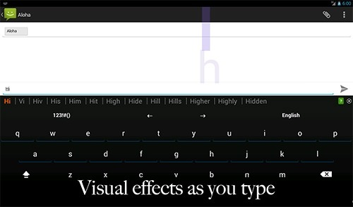 Effected Keyboard Android Application Image 1