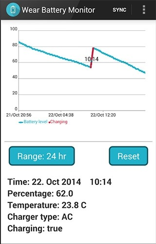 Wear Battery Monitor Alpha Android Application Image 2
