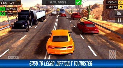 Racing In Traffic Android Game Image 1
