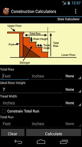 Handy Construction Calculators Android Application Image 2