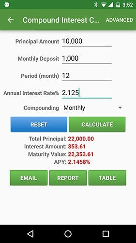Financial Calculators Android Application Image 2