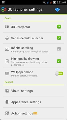 Go Launcher Ace Android Application Image 2