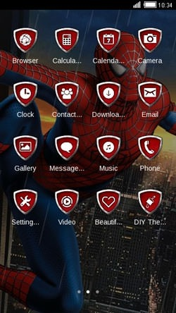 Spiderman CLauncher Android Theme Image 2