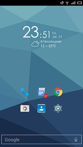 Nano Launcher Android Application Image 1