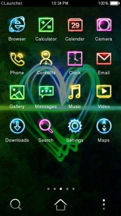 Dazzle Light CLauncher Android Theme Image 2