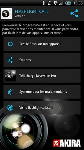 Flashlight Call Android Application Image 2