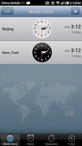 IPhone 5 Clock Android Application Image 1