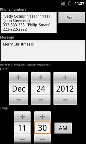 Sms Scheduler Android Application Image 2