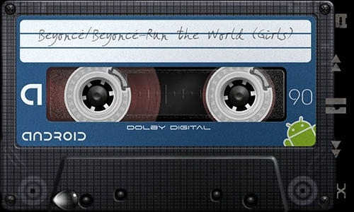 Retro Tape Deck Music Player Android Application Image 2