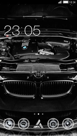 Black BMW CLauncher Android Theme Image 1