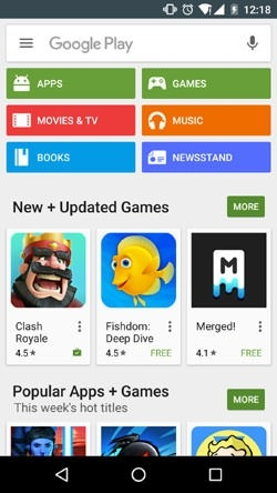 Google Play Store Android Application Image 1