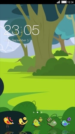 Garden CLauncher Android Theme Image 1