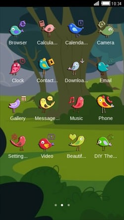 Garden CLauncher Android Theme Image 2