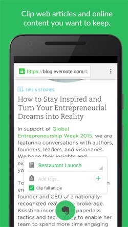 Evernote Android Application Image 2