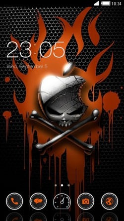 Apple On Fire CLauncher Android Theme Image 1
