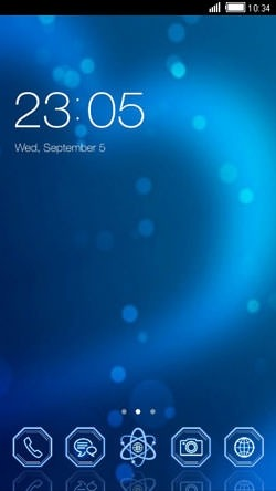 Blue Heart CLauncher Android Theme Image 1