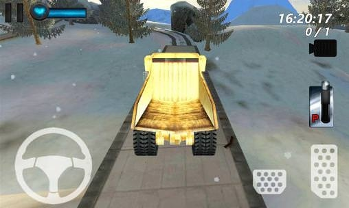 Mountain Mining: Ice Road Truck Android Game Image 1