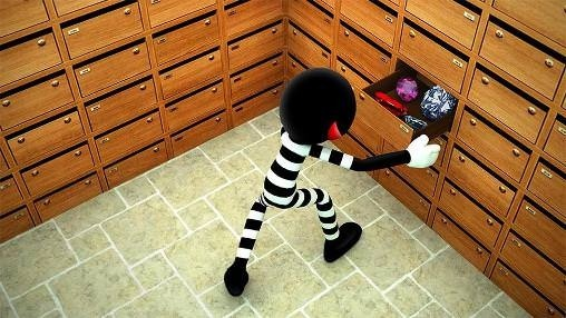 Stickman Bank Robbery Escape Android Game Image 2