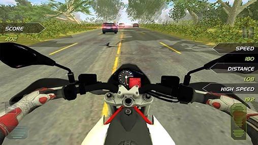 Highway Motorbike Rider Android Game Image 1