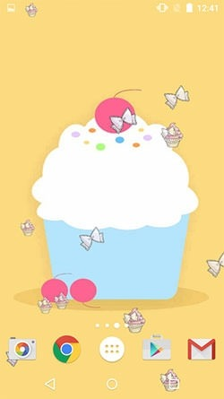 Cute Cupcakes Android Wallpaper Image 1