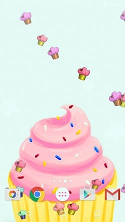 Cute Cupcakes Android Wallpaper Image 2