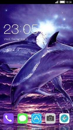 Dolphins CLauncher Android Theme Image 1