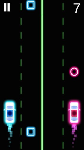 Neon 2 Cars Racing Android Game Image 1