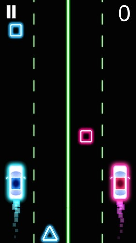 Neon 2 Cars Racing Android Game Image 2