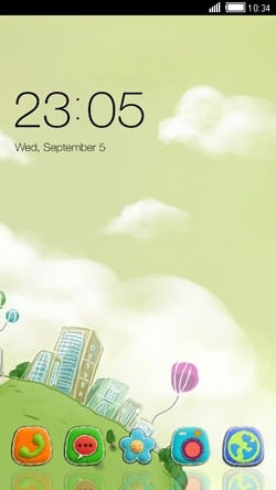 Globe CLauncher Android Theme Image 1