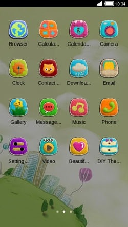 Globe CLauncher Android Theme Image 2