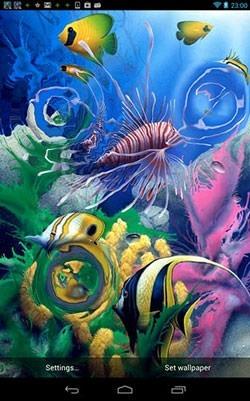 Aquarium 3D Android Wallpaper Image 1