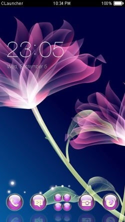 Abstract Flower CLauncher Android Theme Image 1