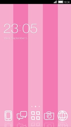 Download Free Android Theme Love Pink CLauncher - 1830