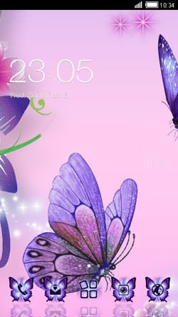 Lavender Butterfly CLauncher Android Theme Image 1