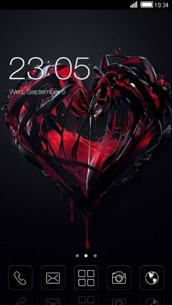 My Love CLauncher Android Theme Image 1