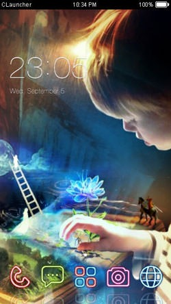 Book Imagination CLauncher Android Theme Image 1