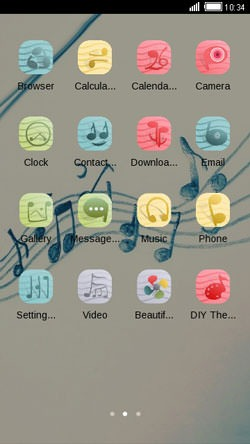 Music CLauncher Android Theme Image 2