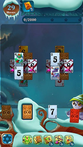 Solitaire: Frozen Dream Forest Android Game Image 1