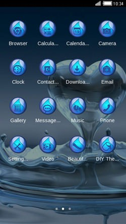 Splash Heart CLauncher Android Theme Image 2