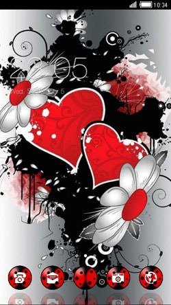 Hearts & Flowers CLauncher Android Theme Image 1