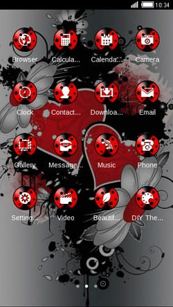 Hearts & Flowers CLauncher Android Theme Image 2